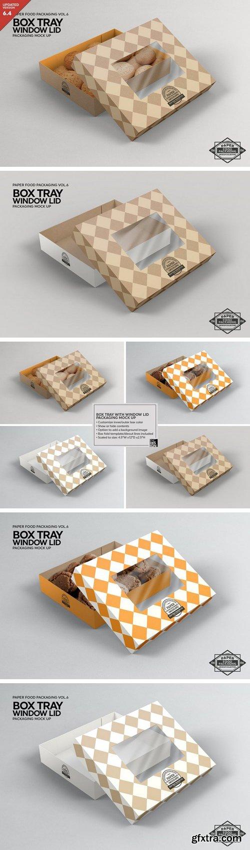CM - Box Tray Window Lid Packaging Mockup 2306710