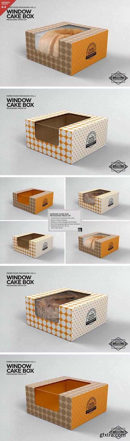 CM - Cake Window Box Packaging Mockup 2306692