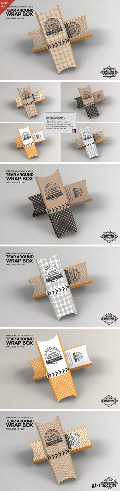 CM - Tear Around Wrap Packaging Mockup 2306726
