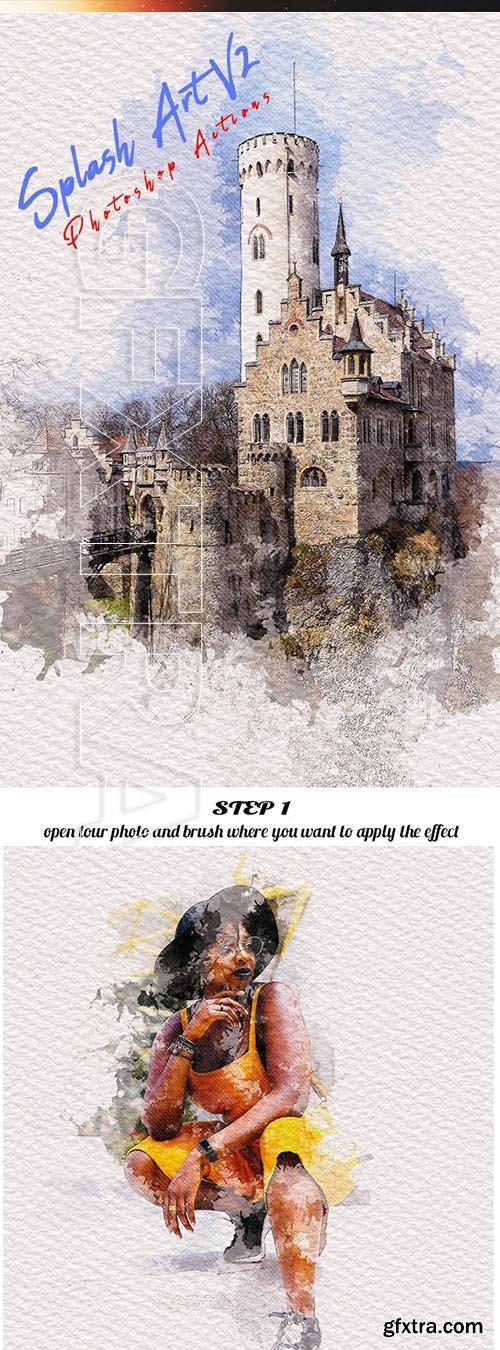GraphicRiver - Splash Art V2 Photoshop Actions 25031701