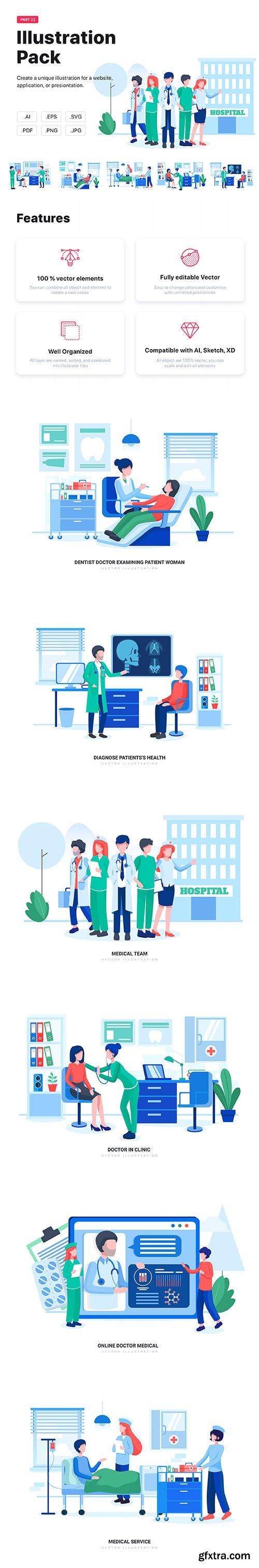 Virgo - bHospital and Healthcare Vector Scenes
