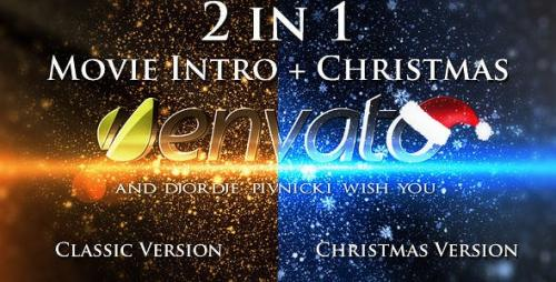 Videohive - Movie Intro + Christmas Intro Project - 2 in 1