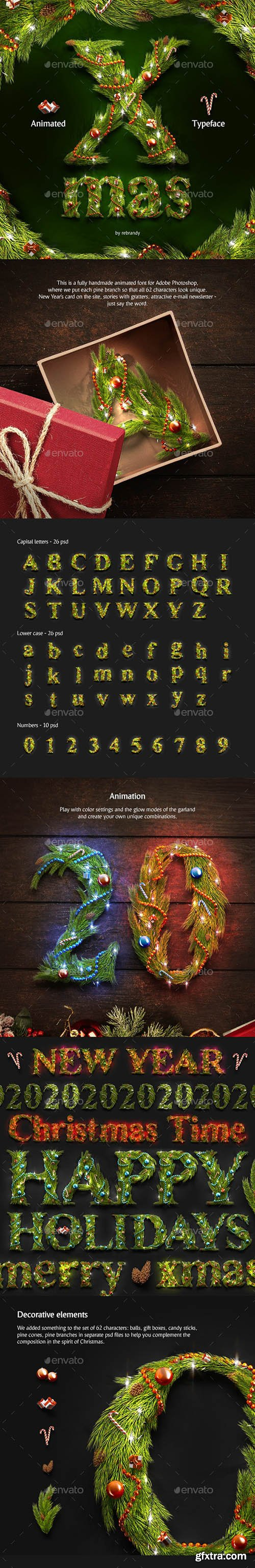Graphicriver Christmas Animated Typeface 24819053