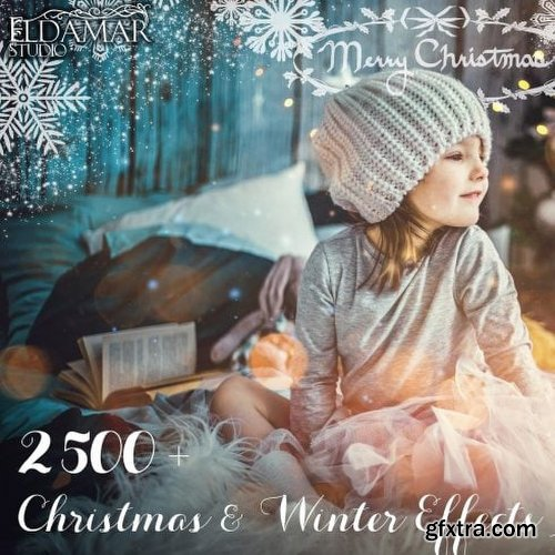 MasterBundles 2500+ Christmas & Winter Overlays Bundle