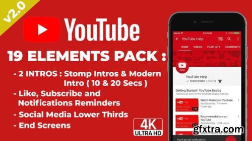Videohive Youtuber Subscribe & End Screens V2 23179724