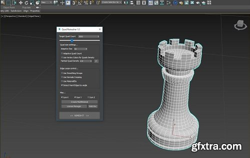 Exoside QuadRemesher v1.01 for Cinema 4D
