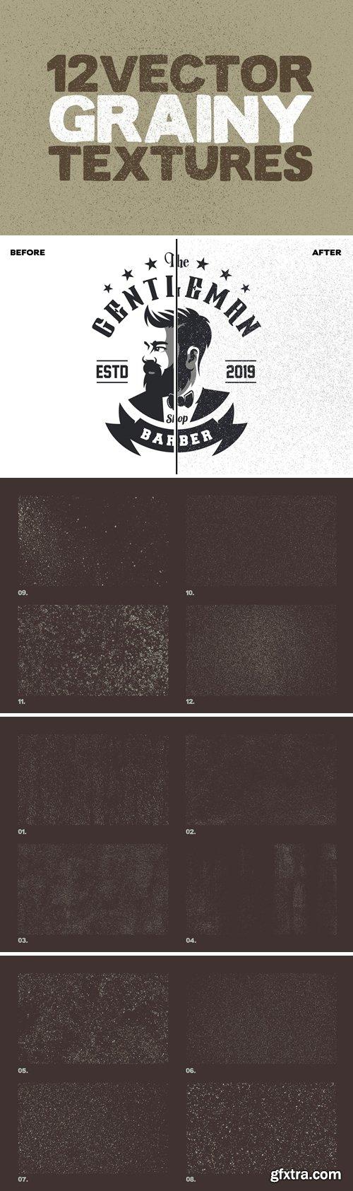Vector Grainy Textures x12