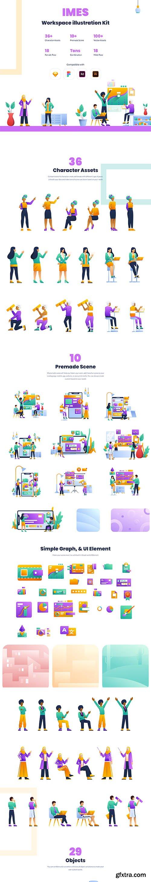 IMES Workspace Illustration Set