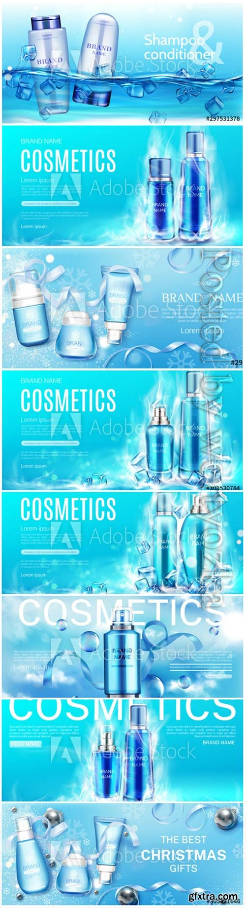Beauty product cosmetic advertising promo poster realistic 3d vector