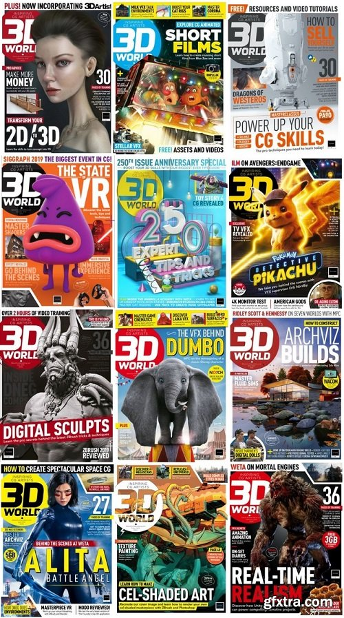 3D World UK - 2019 Full Year Issues Collection
