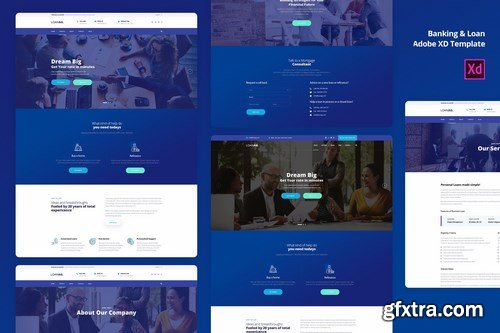 Banking & Loan For Adobe XD template