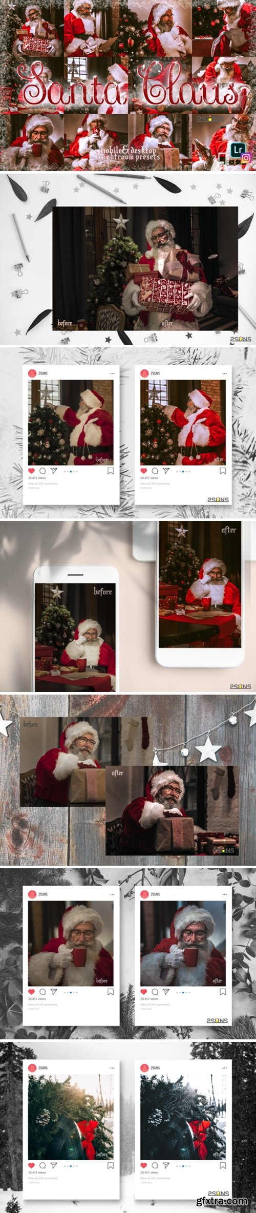 5 Santa Claus Lightroom Preset Christmas 2139083
