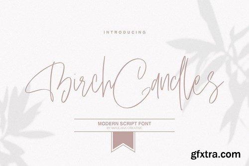 CM - Birch Candles - Handwritten Font 4347038