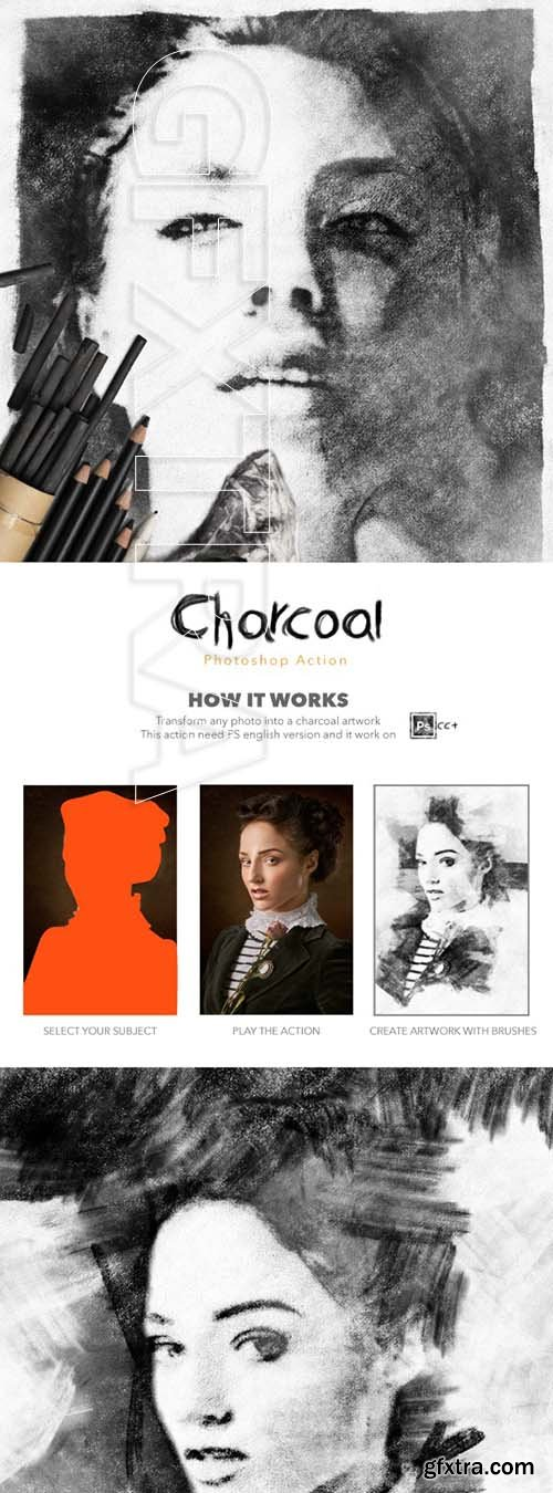 GraphicRiver - Charcoal Photoshop Action 25022083