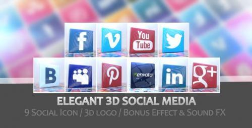 Videohive - Elegant 3D Social Media