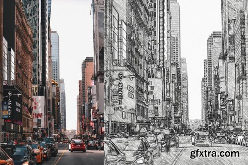 CreativeMarket - Realistic Pencil Sketch Action 3749046