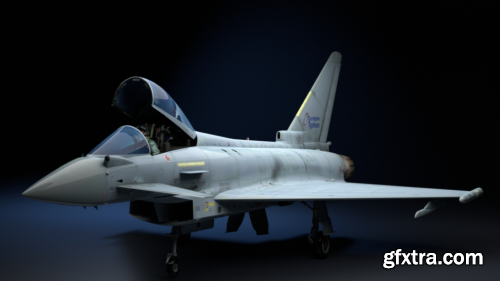 EF2000 Multirole Fighter 3d model