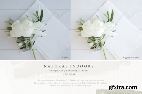 CreativeMarket - Photoshop Actions - Natural Indoors 3727992