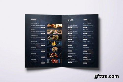 Fresh Minimal Bifold A4 & US Letter Food Menu