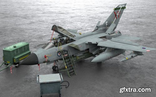 Panavia Tornado GR1 Fighter Jet 3d model