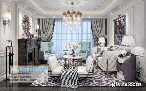 American Modern Style Livingroom 334 (2019)