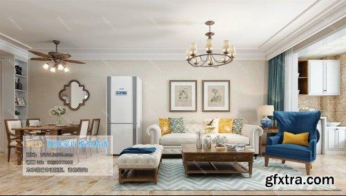 American Modern Style Livingroom 336 (2019)