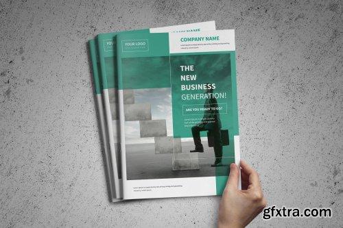 CreativeMarket - A4 Corporate Business Brochure 4159023
