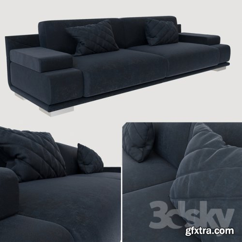 Fendi sofa artu 3d model