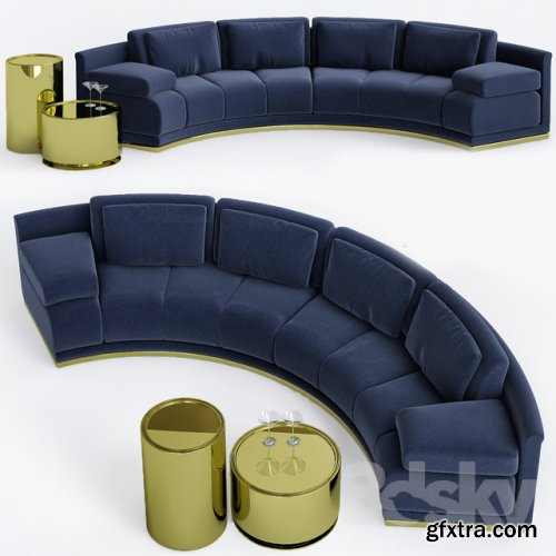 Sofa Fendi Casa 2015 Collection 3d model