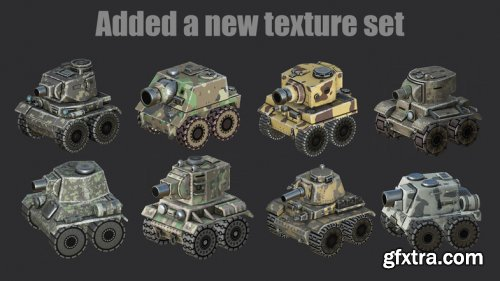 Set of Cartoon Tanks