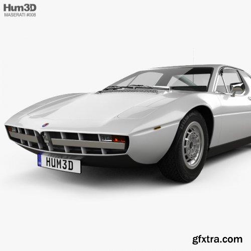 Maserati Merak 1972 3D model