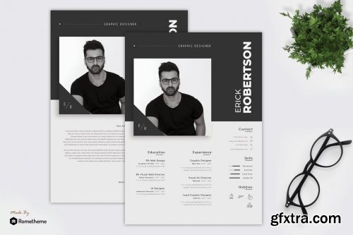 Erick - Clean Minimalist Resume TS