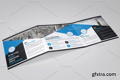 CreativeMarket - Square Trifold Brochure Template 4242475