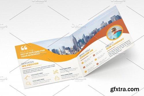 CreativeMarket - Square Bifold Brochure Template 4242459