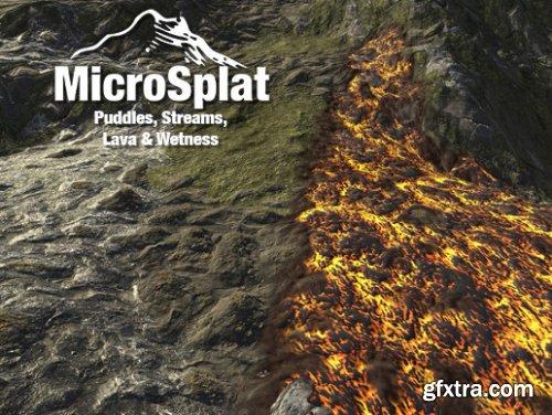 Unity - MicroSplat - Puddles, Streams, Lava & Wetness v2.7