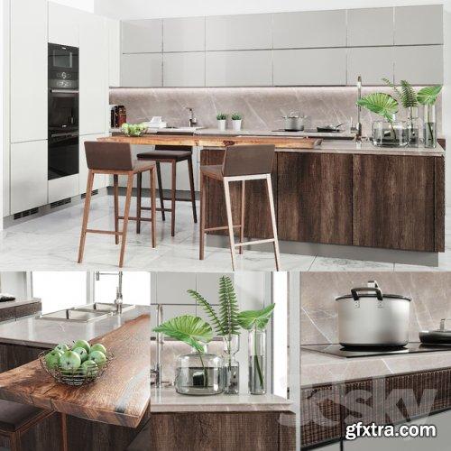 Cocina Verona Mod wood 3d model