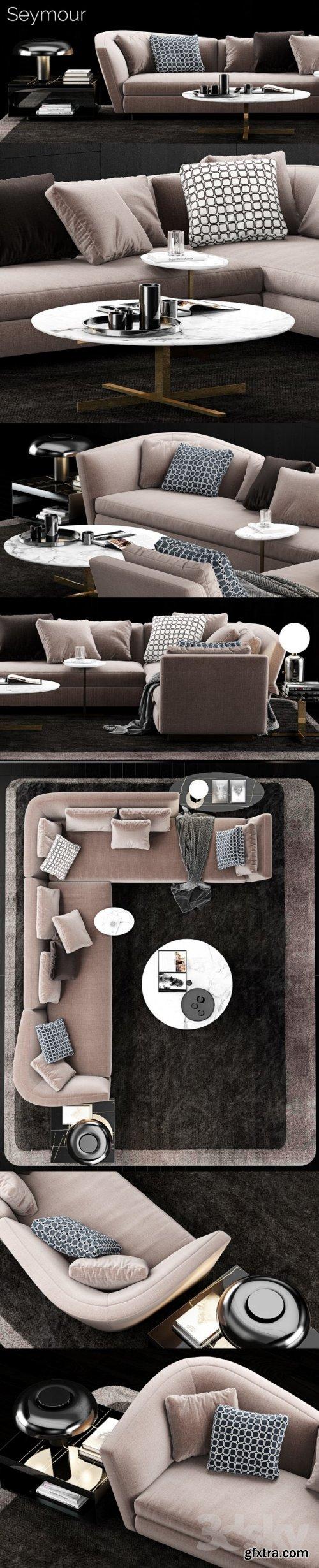 Minotti Seymour Sofa 3d MODEL