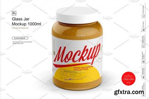 CreativeMarket - Glass Jar Mockup 1000ml 4278347