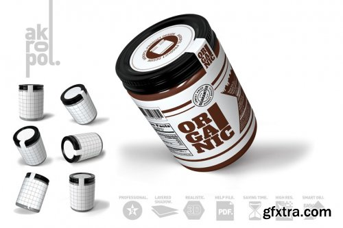 CreativeMarket - JAR MOCKUP 4285423