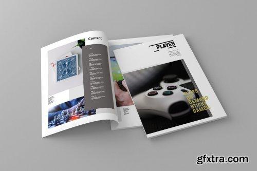 CreativeMarket - Playes - Magazine Template 4309236