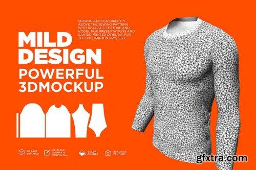 CreativeMarket - Raglan T-Shirt - 3D Mockup (Long) 4219008