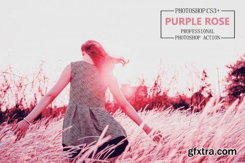 CreativeMarket - Purple Rose - Photoshop Action 4194427