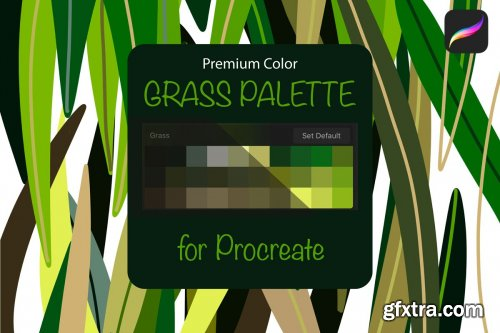 CreativeMarket - Procreate palette. Grass 4313884