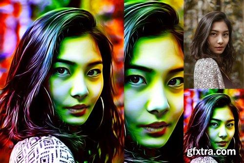CreativeMarket - Rainbow Light Speed Art 4251035