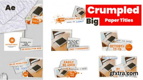 Big Crumpled Paper Titles - After Effects 304301