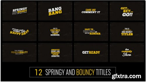 Springy & Bouncy Titles - After Effects 311910