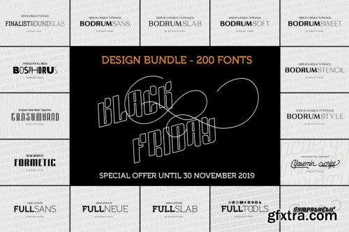 CreativeMarket - BLACK FRIDAY Type Design BUNDLE! 4316083