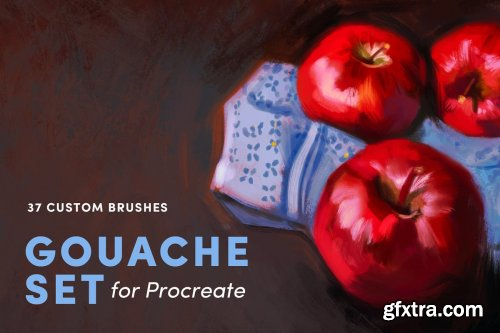 CreativeMarket - Gouache Set – Procreate Brushes 3948209