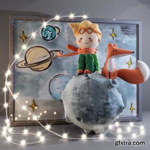 Little Prince and Fox 3d model