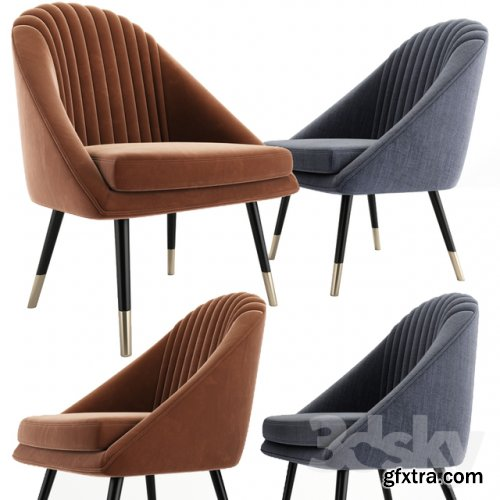 Cult Audrey Occasional Tub Lounge Chair 3d model